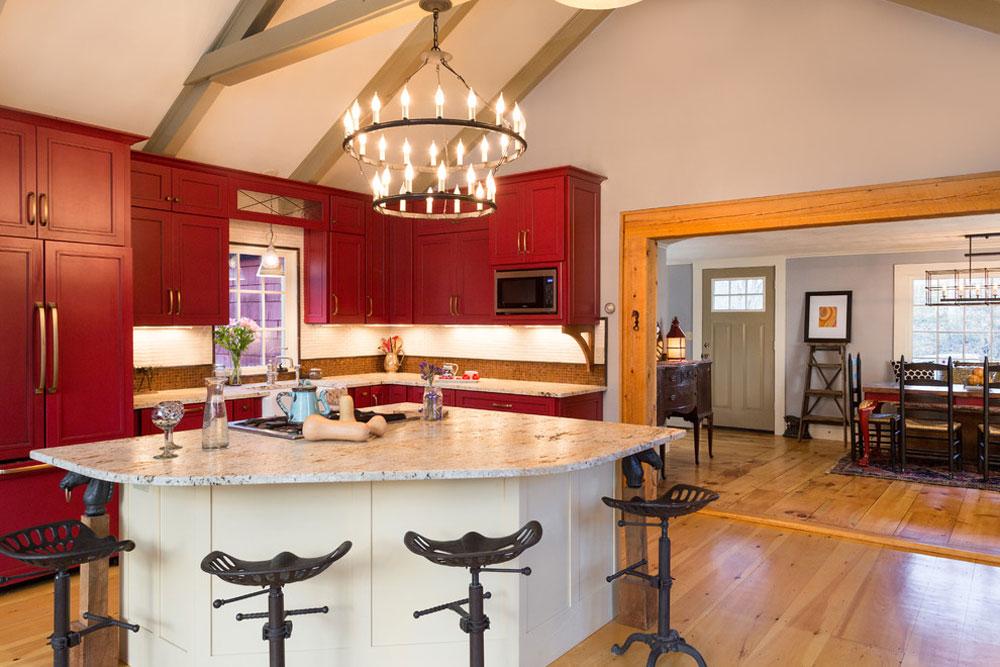 Farmhouse-Fabulous-Bow-NH-of-New-England-Design-Elements Rött köksdesign: idéer, väggar och dekor