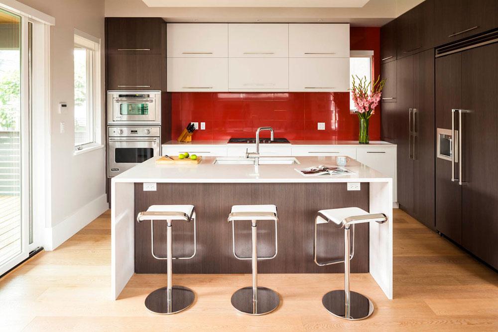 Magnusson-Residenz-von-Architrix-Design-Studio-Inc.  Röd köksdesign: idéer, väggar och inredning