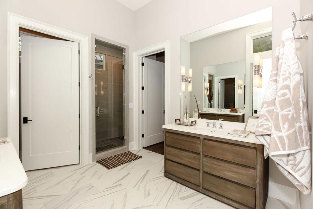 Modern Farmhouse-Durham-NC-by-Lisle-Architecture-Design Farmhouse-Bathroom: dekor, idéer, belysning och stil