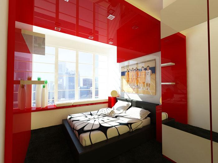 68962311557 Idéer för att dekorera ditt sovrum med rött, vitt och svart