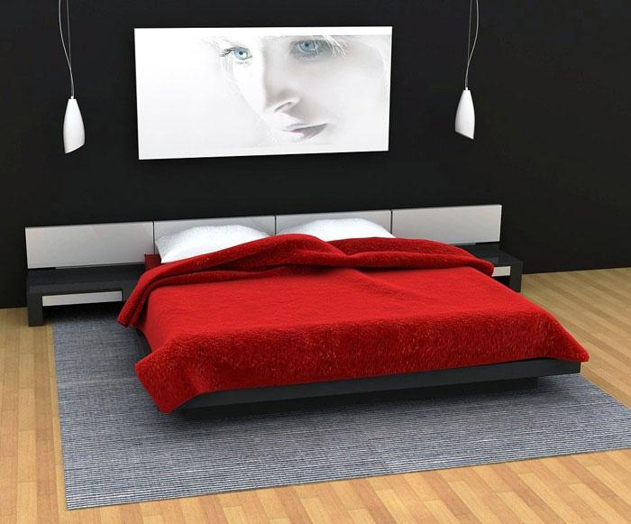 68962349410 Idéer för att dekorera ditt sovrum med rött, vitt och svart