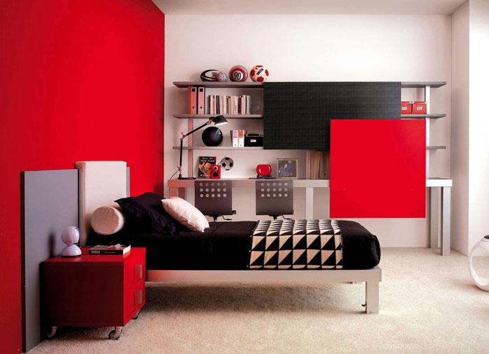 68962233100 Idéer för att dekorera ditt sovrum med rött, vitt och svart