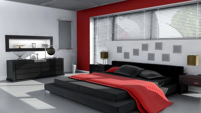 68962342384 idéer för att dekorera ditt sovrum med rött, vitt och svart