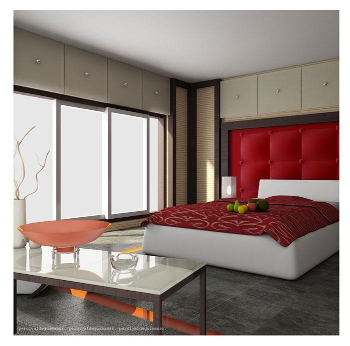 68962258307 Idéer för att dekorera ditt sovrum med rött, vitt och svart