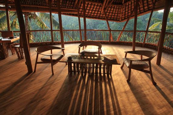 bal12 Miljövänliga hus som en del av en grön by på Bali Designad av Ibuku Studio
