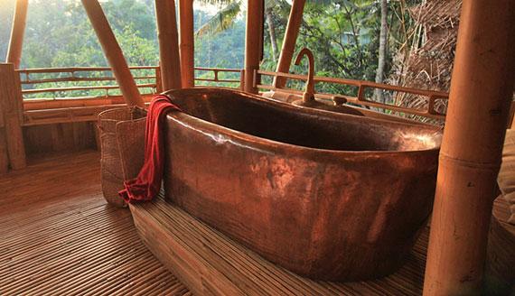 bal19 Miljövänliga hus som en del av en grön by på Bali Designad av Ibuku Studio