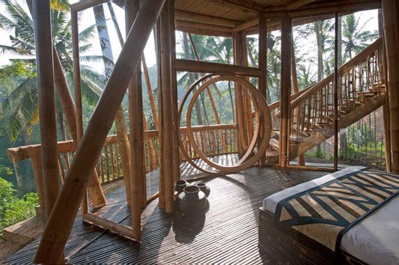bal16 Miljövänliga hus som en del av en grön by på Bali Designad av Ibuku Studio