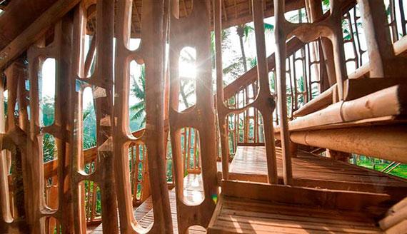 bal13 Miljövänliga hus som en del av en grön by på Bali Designad av Ibuku Studio