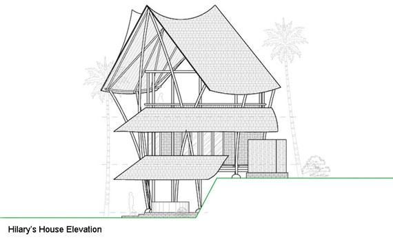 bal40 Miljövänliga hus som en del av en grön by på Bali Designad av Ibuku Studio