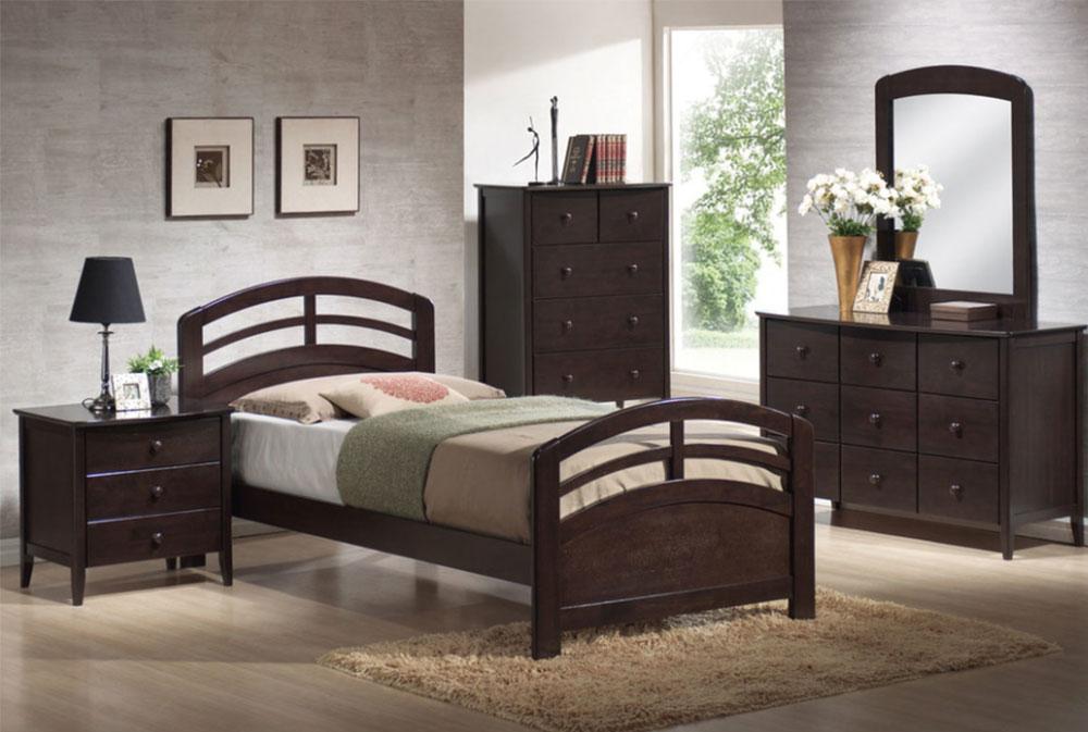 San-Marino-5-PC-Arched-Headboard-and-Footboard-Bedroom-Set-Dark-Walnut-by-TheBedroomSets Bunkie Board: Vad det är och vanliga frågor om det