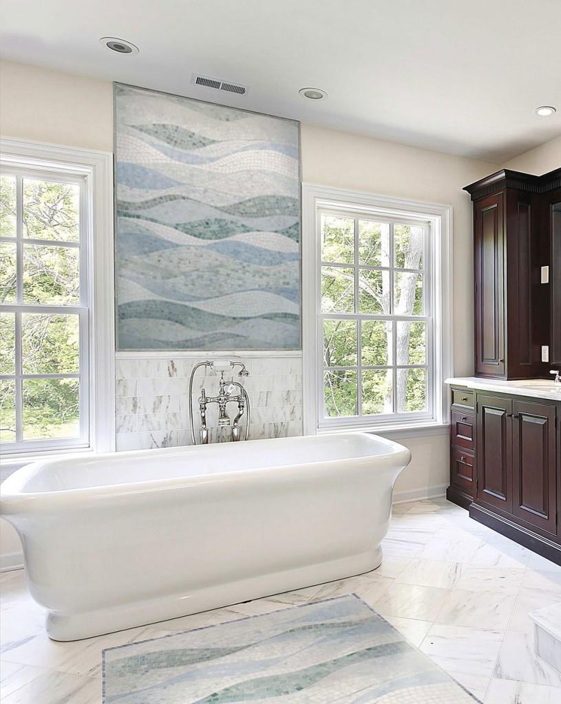 Hur man använder mosaikplattor i ditt hem 4-815x1024 Hur man använder mosaikplattor i ditt hem
