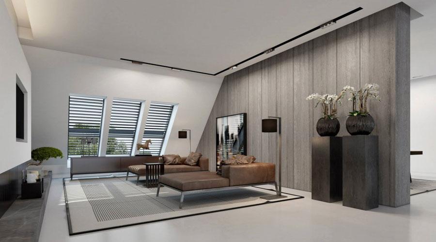 4 Imponerande visualisering av en snygg lägenhetinredning av Ando Studio