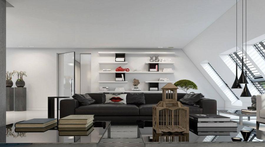 3 Imponerande visualisering av en snygg lägenhetinredning av Ando Studio