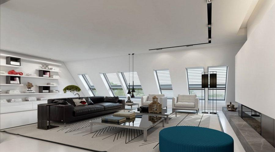 2 Imponerande visualisering av en snygg lägenhetinredning av Ando Studio