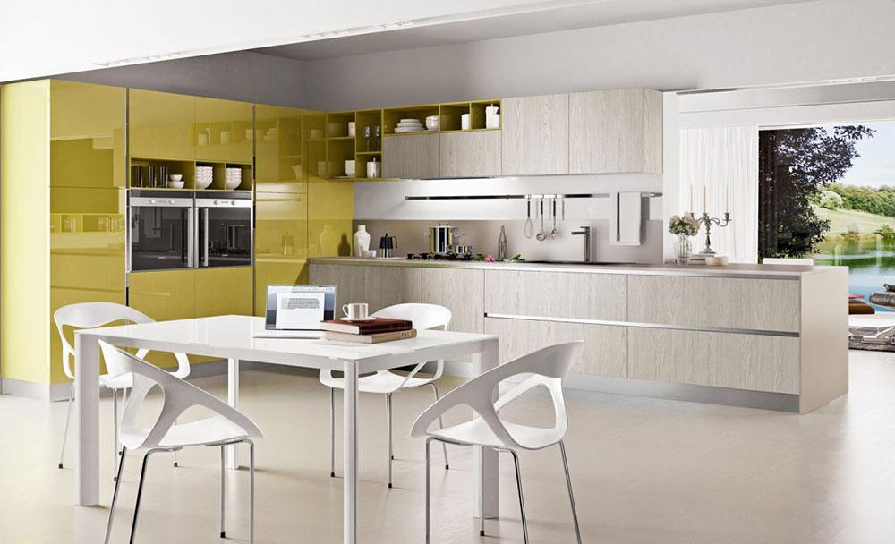 Chartreuse-White-Kitchen-Color-Scheme Ta reda på de senaste trenderna inom köksfärger