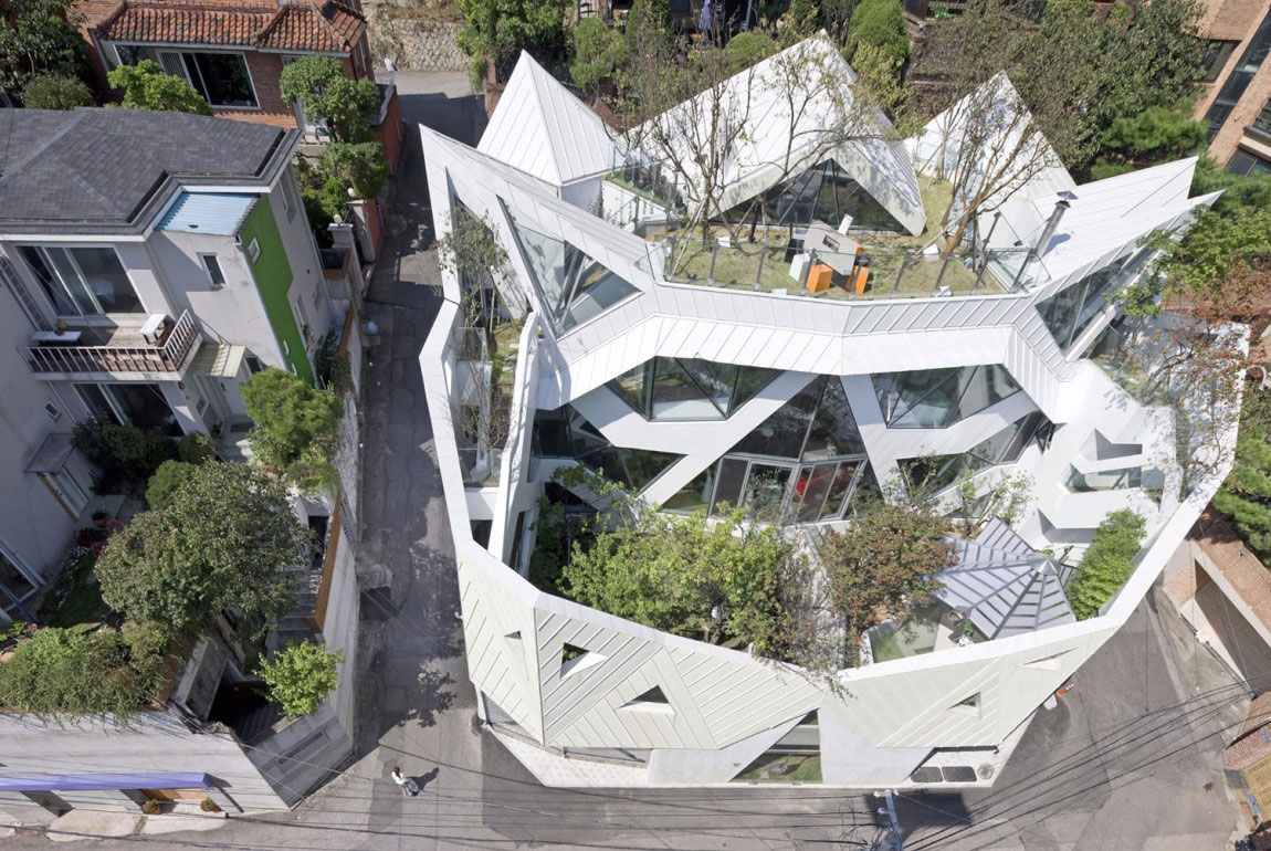 Det moderna Hwa-Hun-Haus, designat av IROJE-KHM-Architekten-2 Det moderna Hwa-Hunnen-Haus, designat av IROJE KHM Architekten