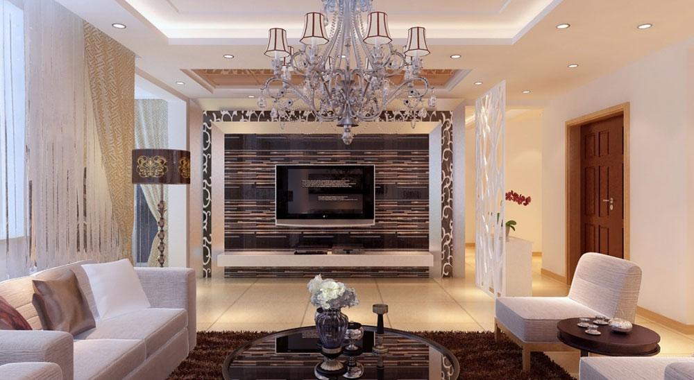 Vackert vardagsrum med randiga väggar-10 Vackert vardagsrum med randiga väggar