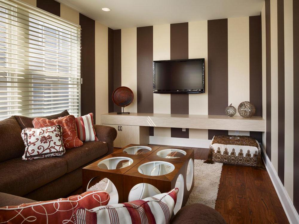 Vackert vardagsrum med randiga väggar-3 Vackert vardagsrum med randiga väggar