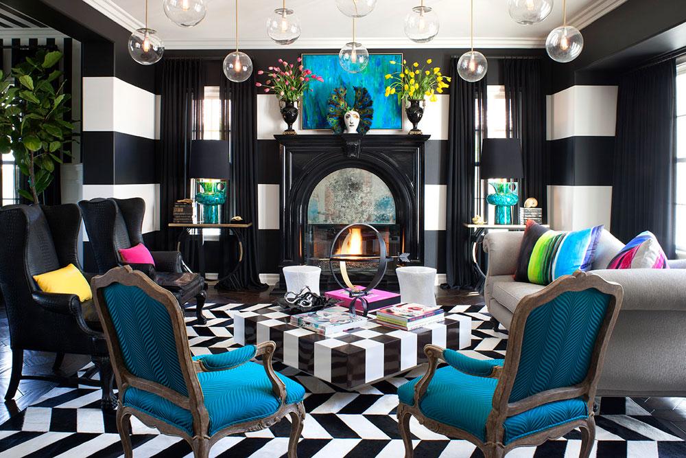 Vackert vardagsrum med randiga väggar-9 Vackert vardagsrum med randiga väggar