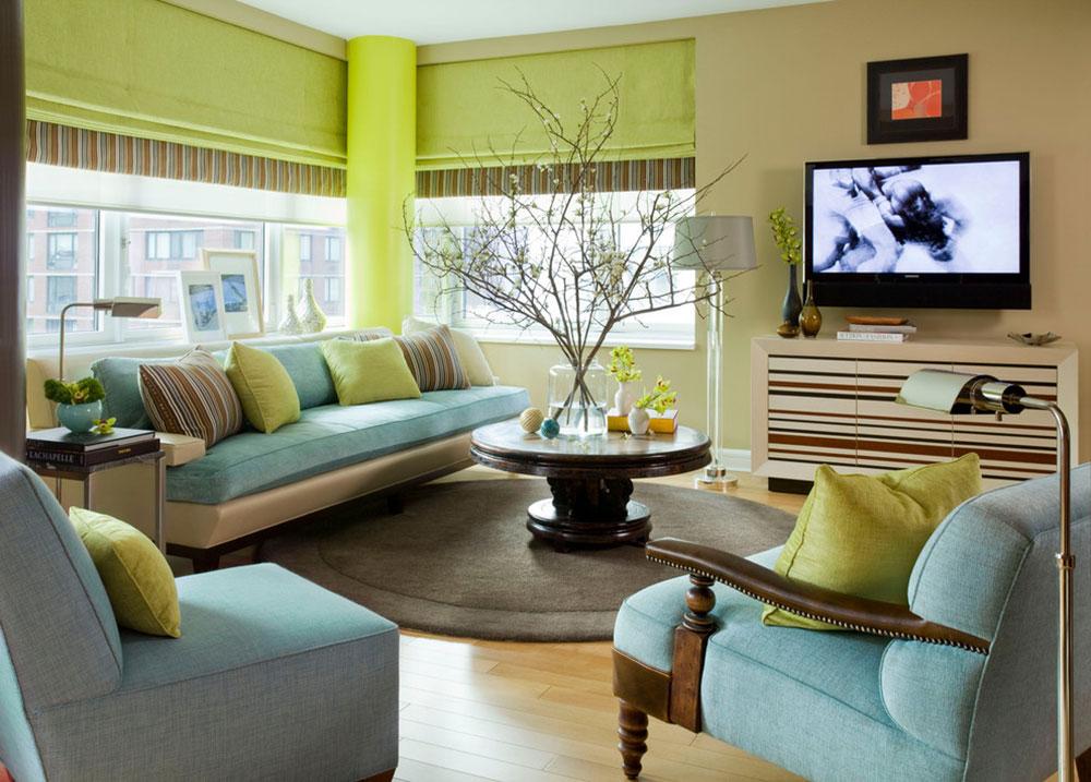 Lysande gröna nyanser för ditt vardagsrum 7 lysande gröna nyanser för ditt vardagsrum