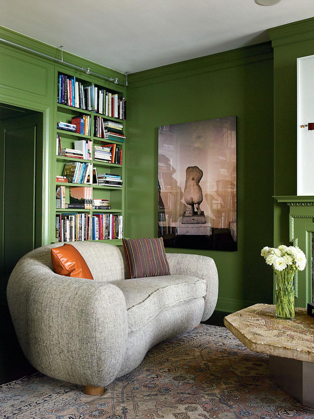 Lysande gröna nyanser för ditt vardagsrum 10 lysande gröna nyanser för ditt vardagsrum