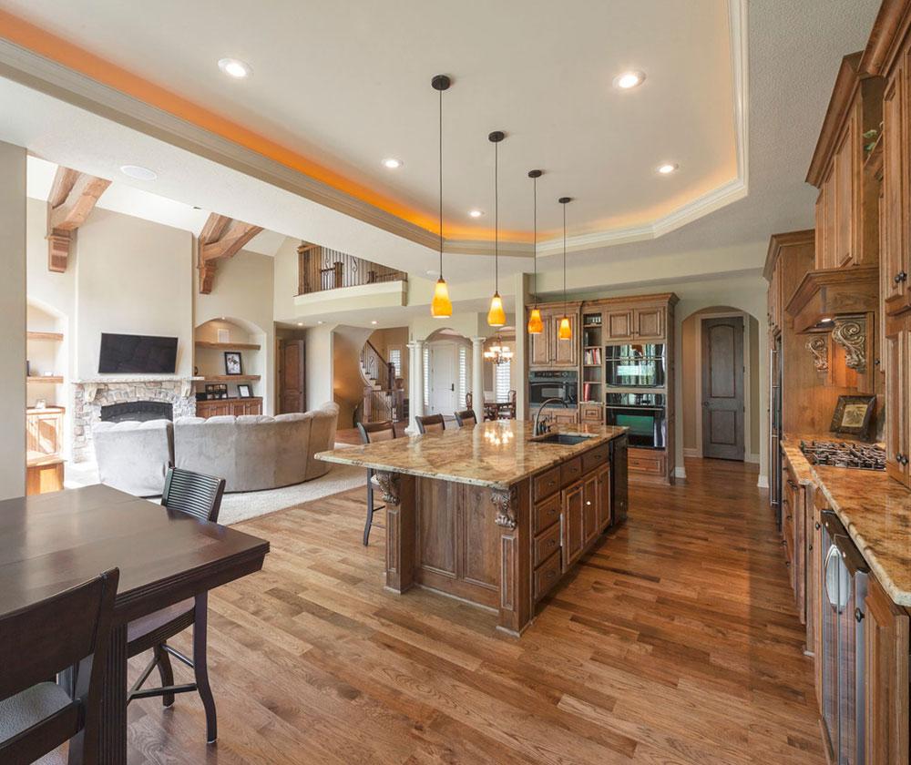 Öppna kök och vardagsrumsdesign4 Idéer för öppet kök och vardagsrum