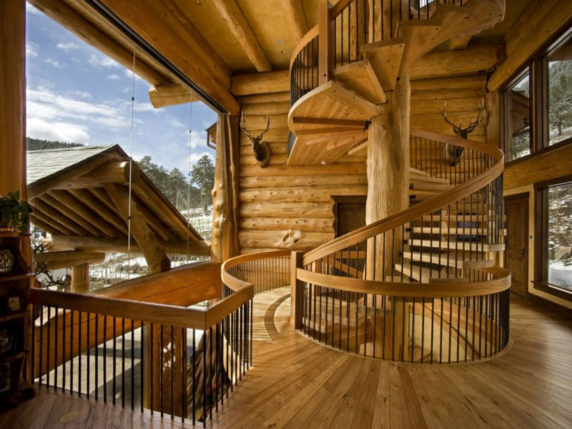 A-mysigt och naturligt timmerhus Designat av Kathy-Scott-71 Ett mysigt och naturligt timmerhus