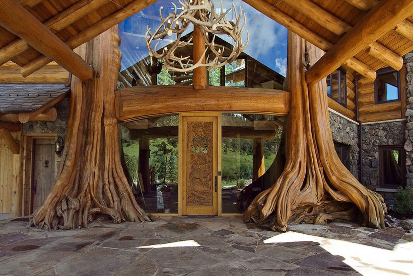 A-mysigt och naturligt timmerhus designat av Kathy-Scott-121 Ett mysigt och naturligt timmerhus