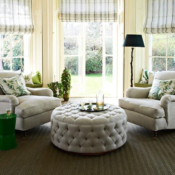 g29 Gröna vardagsrumsdesignidéer: dekorationer och möbler