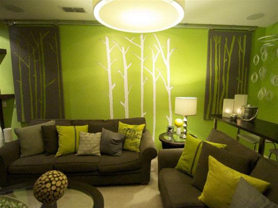 g21 Gröna vardagsrumsdesignidéer: dekorationer och möbler
