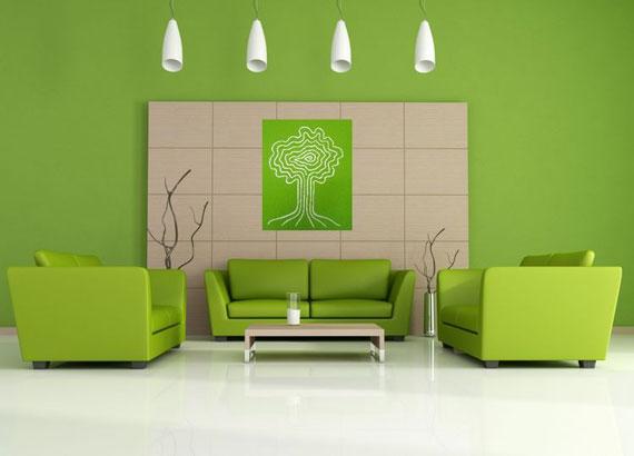 g30 Gröna vardagsrumsdesignidéer: dekorationer och möbler