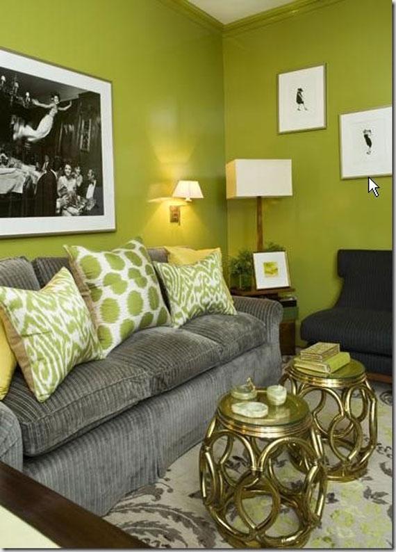 g27 Gröna vardagsrumsdesignidéer: dekorationer och möbler