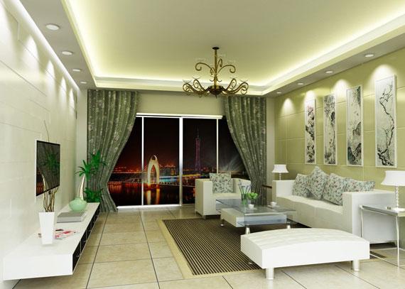 g31 Idéer för grönt vardagsrum: dekorationer och möbler