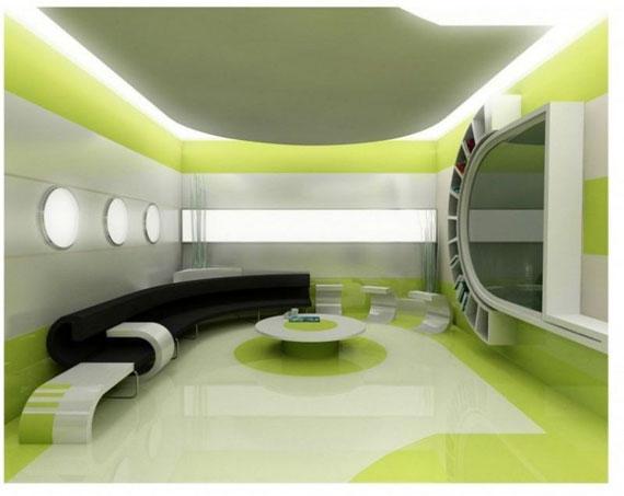 g1 Gröna vardagsrumsdesignidéer: dekorationer och möbler