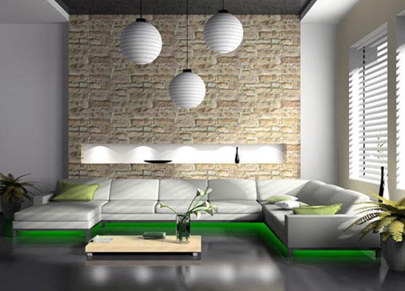 g12 Gröna vardagsrumsdesignidéer: dekorationer och möbler