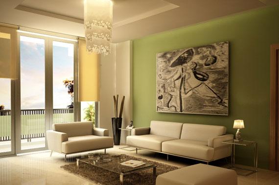 g13 Gröna vardagsrumsdesignidéer: dekorationer och möbler