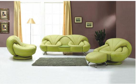 g8 Gröna vardagsrumsdesignidéer: dekorationer och möbler