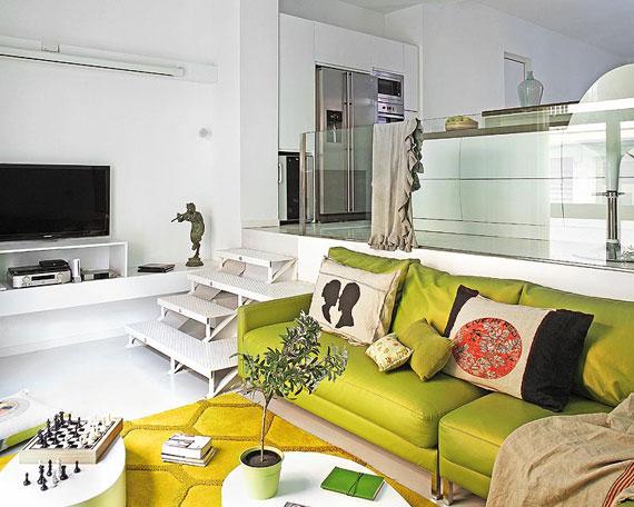 g28 Gröna vardagsrumsdesignidéer: dekorationer och möbler