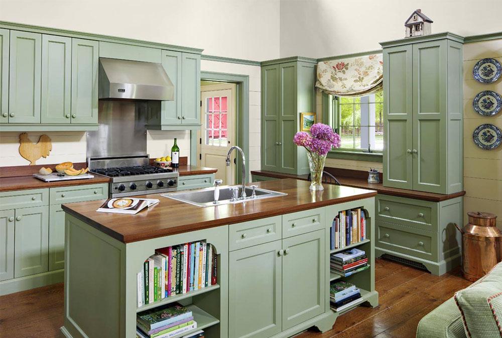 Farm-Cottage-by-Rosewood-Custom-Cabinetry-Millwork-Wood Bänkskivor: Massiva, rustika, naturliga köksbänkar