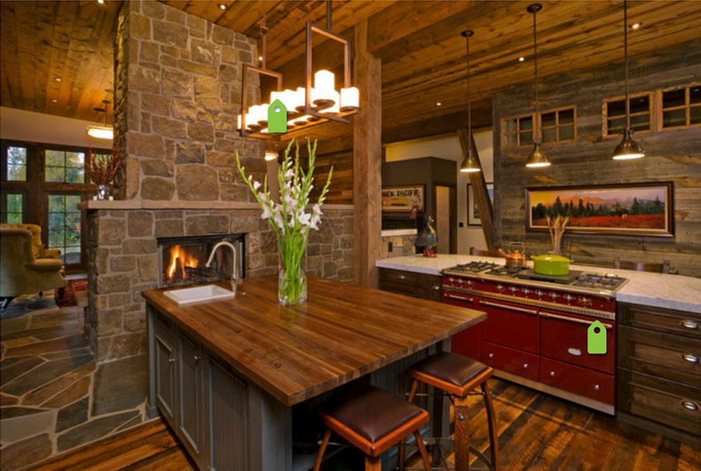 Mountain-Contemporary-by-Fedewa-Custom-Works-Wood-Countertops: solida, rustika, naturliga köksbänkar