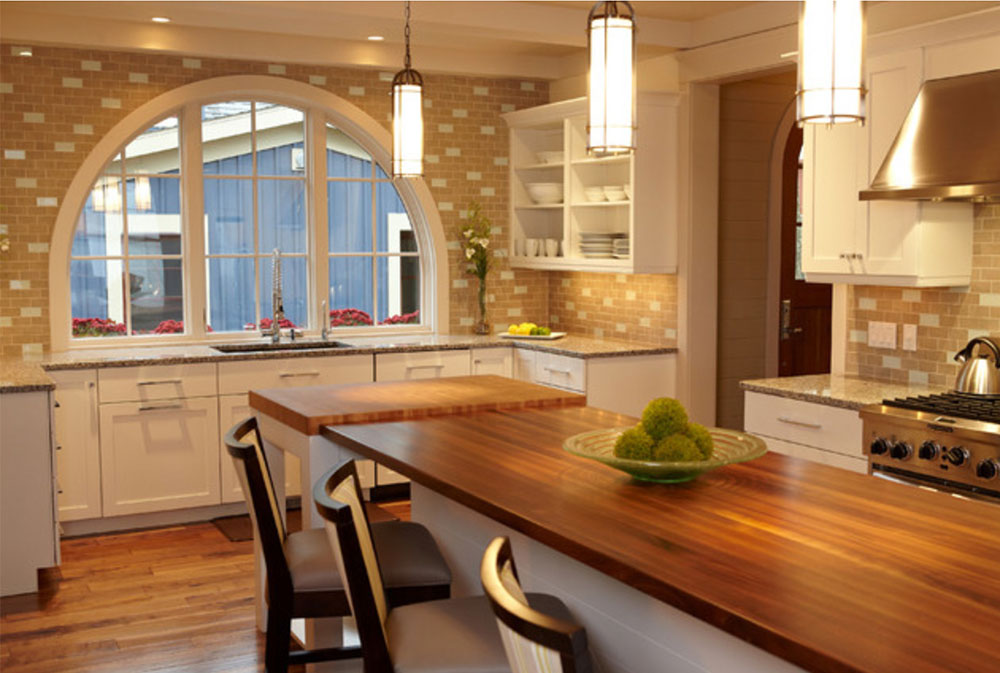 Pentwater-Lake-Cottage-by-New-Urban-Home-Builders-Wood-countertops: Solid, Rustic, Natural Kitchen Counter