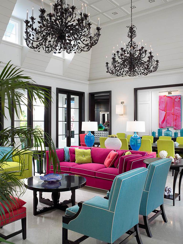 Idéer för att dekorera ditt hem med djärva färger 3 idéer för att dekorera ditt hem med djärva färger