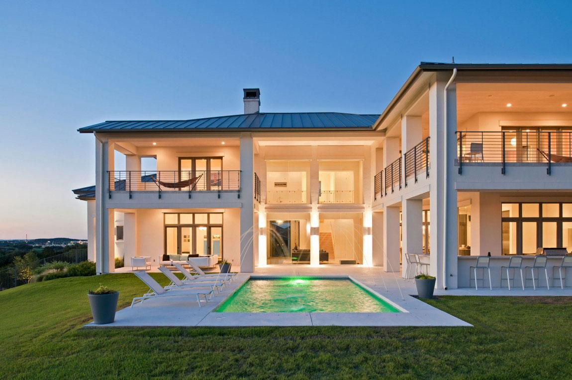 Samtida hus i modern lantlig stil 2 Modernt hus i modern lantlig stil