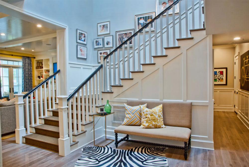 Bild 4-8 Idéer för dekoration av trappväggar