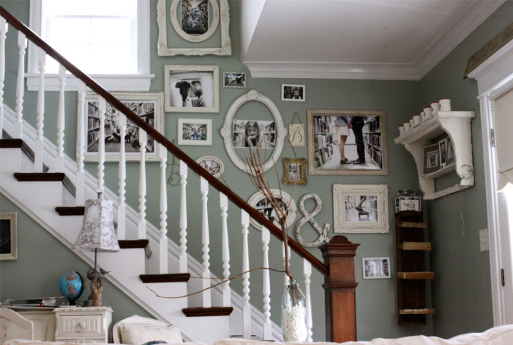 Bild 1-8 Idéer för dekoration av trappväggar