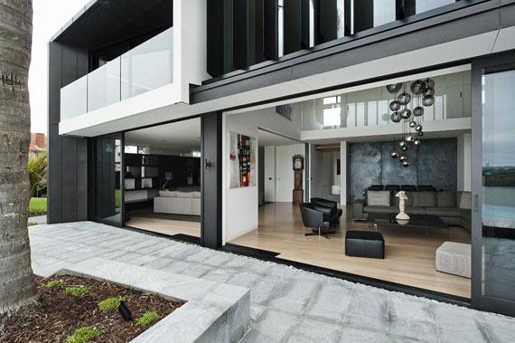cls11 Modernt svartvitt drömhus: Lucerne House av Daniel Marshall Architects