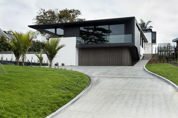 cls1 Modernt svartvitt drömhus: Lucerne House av Daniel Marshall Architects