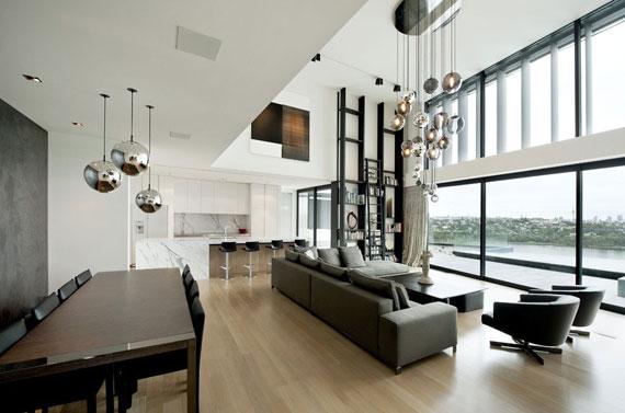 cls9 Modernt svartvitt drömhus: Lucerne House av Daniel Marshall Architects