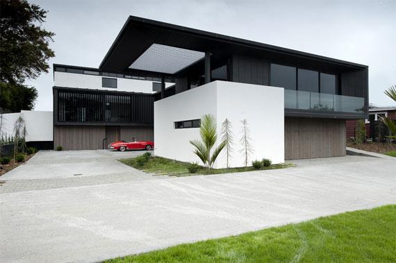 cls4 Modernt svartvitt drömhus: Lucerne House av Daniel Marshall Architects