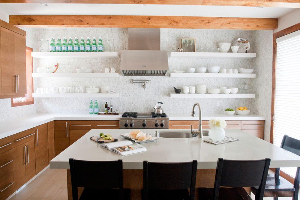 Öppna köksskåp är lättare att arbeta med7 Öppna köksskåp är lättare att arbeta med